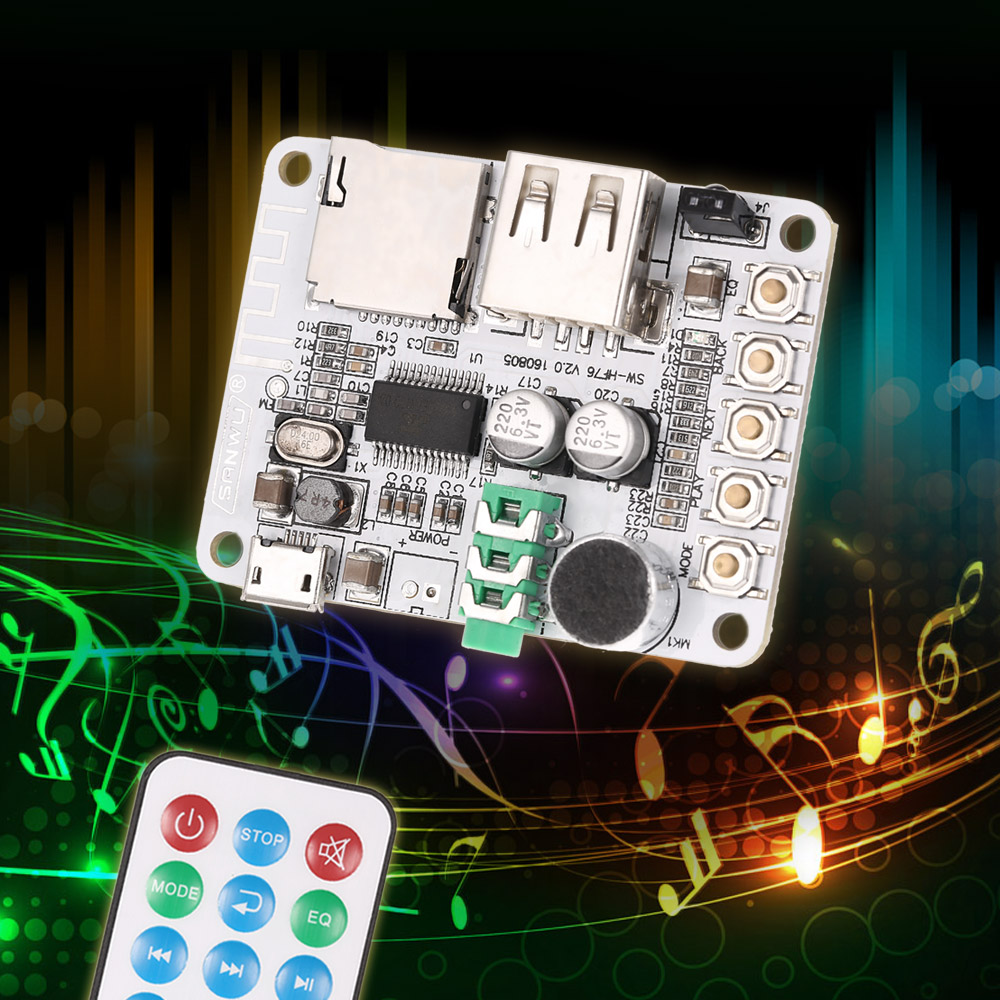 Usb Dc 5v Wireless Bluetooth 2 1 Audio Receiver Board Amplifier Circuit Buy Boardbluetooth Boardfm 21 Module Fm Radio Function Tf Card