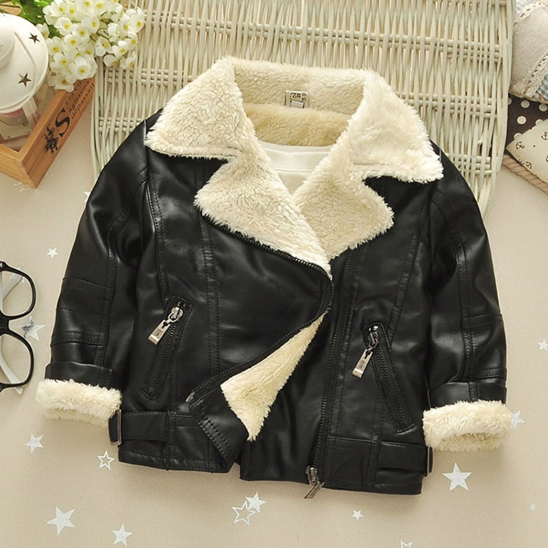 Spring little girls kids clothes outfit PU leather jacket outerwear for baby girl children clothing thick short jackets coats 2 14y children clothing spring 2018 big girl denim jackets children jeans coats kids coats for girls outerwear kids clothes tops