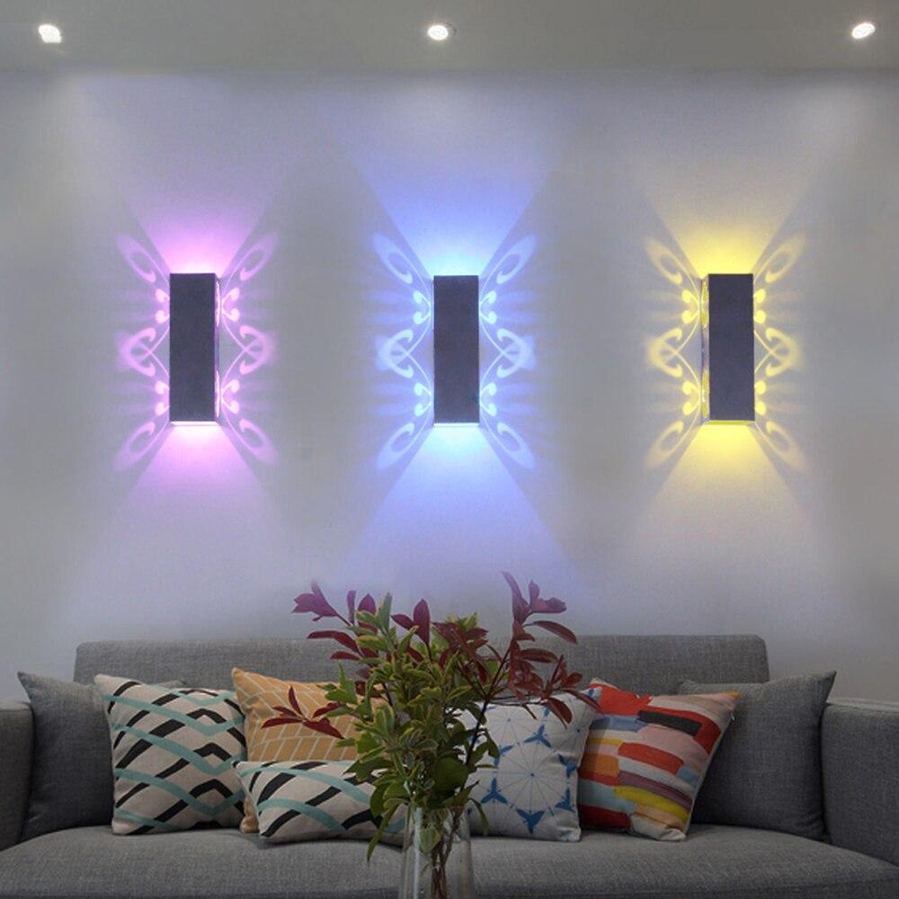Schöne LED Wandleuchte 20*6*6 CM 110 V 220 V wand leuchte 2 Schmetterling schlafzimmer licht LED für haus Foyer dekoration IL
