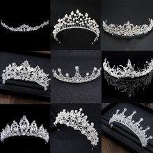 2020 nueva moda de plata hermosa corona de cristal nupcial Tiaras diadema para mujeres novia boda Eveing accesorios para el cabello fiesta