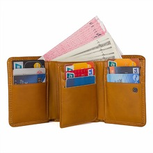 купить Genuine Leather Business Causal Wallet Short Fashion Card Holder With Hasp Open R-8177D/R-8177K дешево