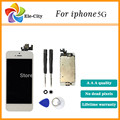 White/Black For Apple iphone 5 5G LCD display digitizer Touch Screen + Home button + Front camera+ Tools Assembly ,Free shipping