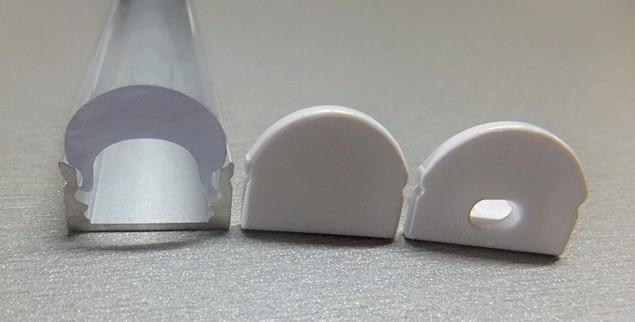 مشخصات نور لامپ نواری و آلومینیوم با لنزهای شفاف 0-300 سانتی متر با لبه های انتهایی ، حمل رایگان