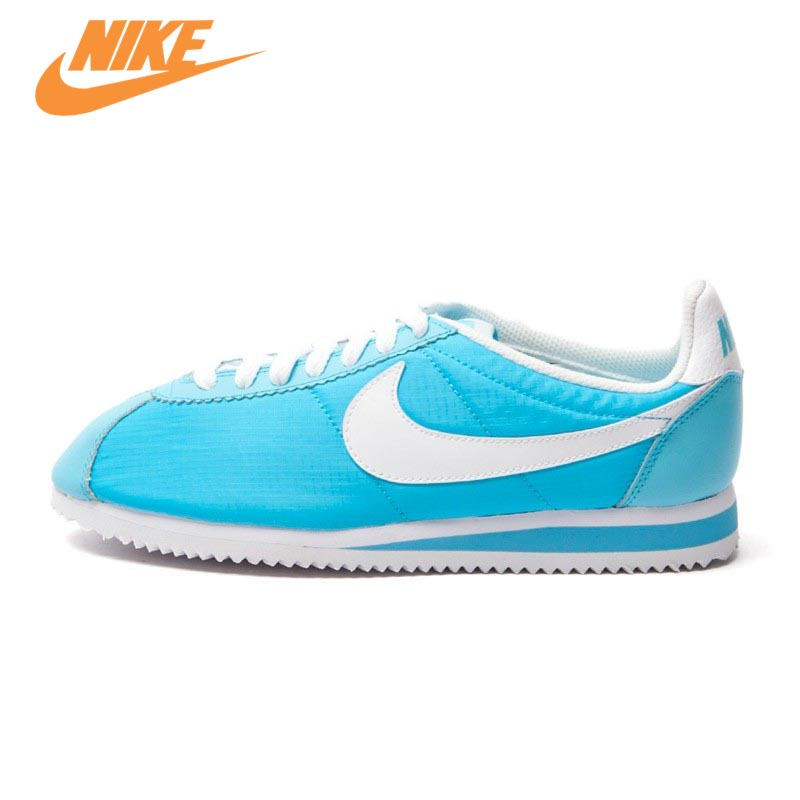 Official Nike Breathable WMNS CLASSIC CORTEZ NYLON Skateboarding Shoes sneakers Trainers original nike classic cortez nylon men s skateboarding shoes 532487 sneakers free shipping