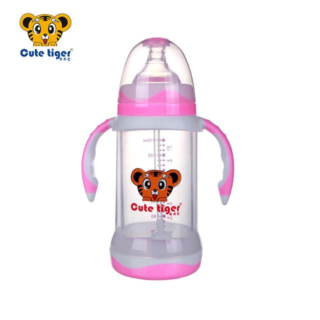 210 ml copo garrafa de vidro garrafa de bebê recém-nascido crianças cute baby aprendizagem nz18 bebida pega palha garrafa de suco de criança 1 ps, duas cores