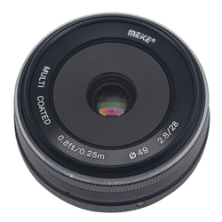 Mcoplus/Meike MK-28mm f/2.8 fixed manual focus lens for 4/3 system APS-C Olympu Panasonic Lumix GM1 GM2 GX1 GX2 GX7 GX8 GF5 GF6