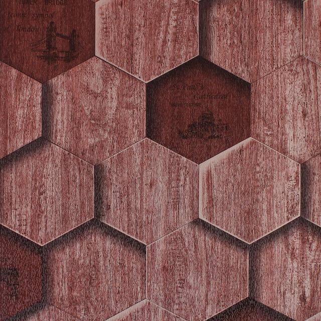 0 53x10m Hexagonal Honeycomb Wood Pattern Wallpaper Living Room