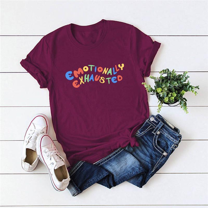 Plus Size S 5XL New Colourful Letter Print T Shirt Women Shirts 100%Cotton O Neck Short Sleeve Summer T Shirt Tops Casual Tshirt|T-Shirts| - AliExpress