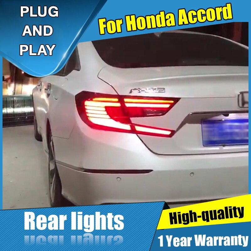 Style de voiture pour Honda accord LED ensemble de feu arrière 2018-2019 feu arrière DRL + frein + parc + Signal avec kit hid 2 pièces.