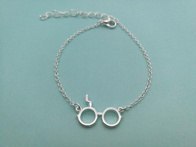 e0ba4132e809 € 9.38 25% de DESCUENTO|10 piezas de moda gafas bonitas pulsera película  símbolo gafas pulseras trueno rayo gafas pulsera para mujer en Pulseras ...
