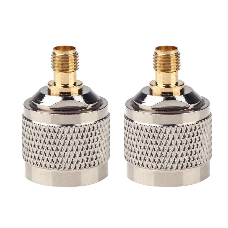 2pcs N Male to SMA Female Connector RF Coax Coaxial Adapter Straight Type for Cell Phone Mobile Signal Booster Straight Type commercial double screen cylinder electric deep fryer french fries machine oven pot frying machine fried chicken row eu us plug
