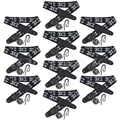 10 pièces sangle réglable noir cuir souple épais pour guitare acoustique électrique basse de remplacement