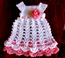Crochet baby dress  newborn dress