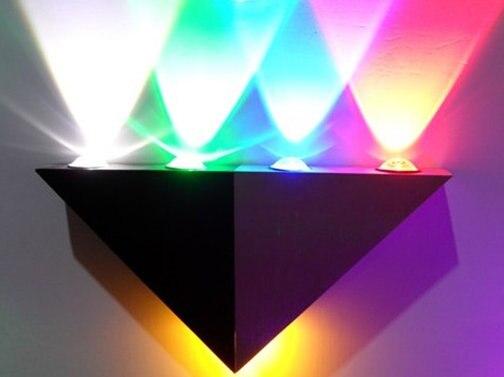 Wandlamp svítidlo nástěnné světlo Abajur Doprava zdarma 4ks: 4 * 1w LED lampy, led lampy se vstupním napětím Rgb Color.ac95-265v, led