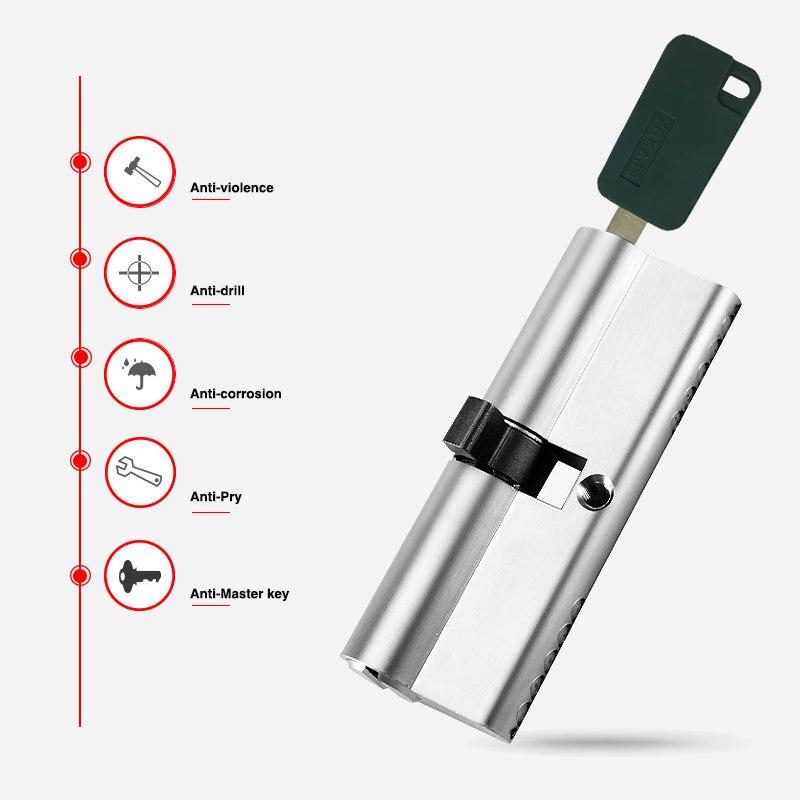 110mm Grade C stainless steel Anti-theft door lock core with 7Keys high security lock core Bedroom living room цена