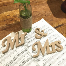 HAOCHU 3pcs/lot Wedding Decoration Mr & Mrs Letters Density Board Wedding Favor Mariage Birthday Party Table Supplies Lowercase