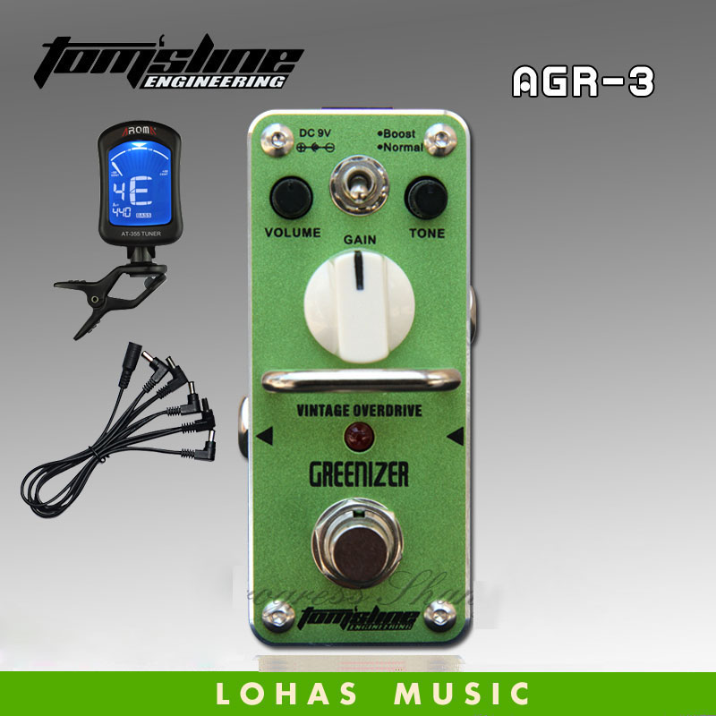 TOM'SLINE AGR-3 GREENIZER Classical overload / Guitar effects pedal пеньюар