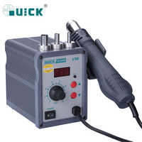 QUICK 858D Hot Air Soldering Station 700W Heat Air Gun Welding BGA SMD Rework Station With LED Digital Display Helical Wind