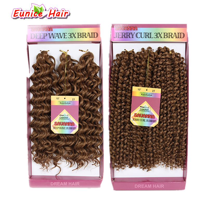Synthetic Crochet Braid Savanna Jerry Curl 3xBraid Freetress deep twist Synthetic hair extensions Freetress Deep Wave hair Weft