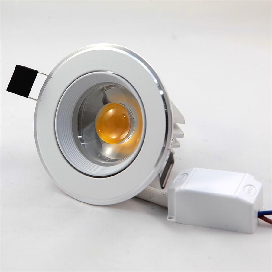 Бесплатная доставка теплый белый/холодный белый 7 Вт вел Подпушка свет встраиваемые + LED Driver AC85-265V 30 шт./лот