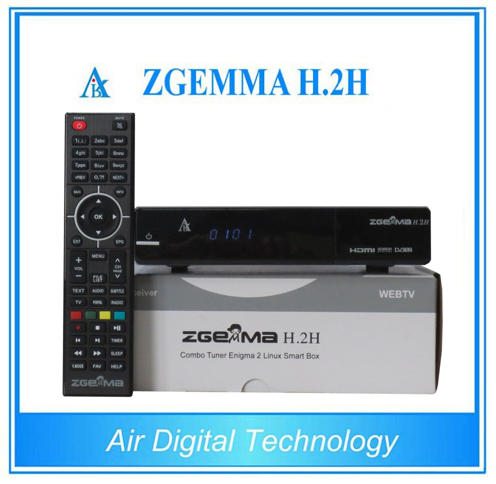 2pcs/lot Original ZGEMMA H .2H with bcm7362 Dual Core DVB-S2 + DVB-T2/C Hybrid tuner Combo Satellite Receiver Enigma2 Linux HD 5pcs lot best offer 751mhz cpu zgemma star h2 hd combo dvb s2 dvb t2 c satellite receiver low cost in stock now