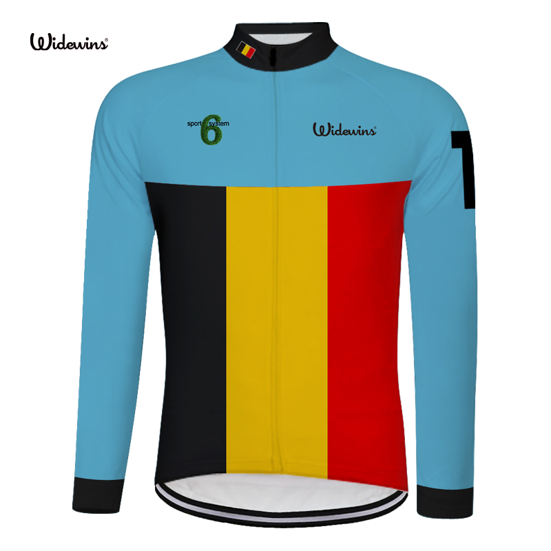 Shop For Cheap Belgium Men's Summer Long Sleeve Cycling Jersey Mtb Bike Bicycle Shirt Clothing - Fluorescent Red Yellow Black Gray 6554 Cool In Summer And Warm In Winter