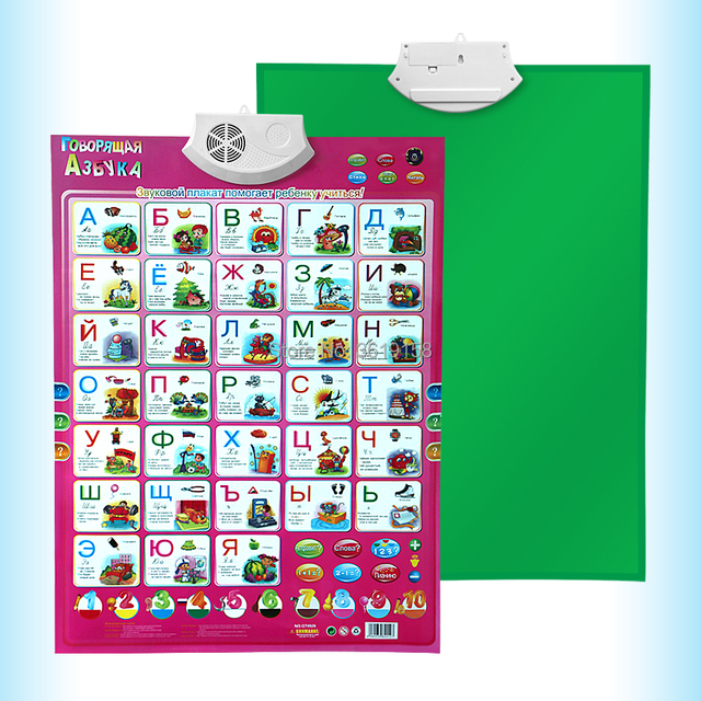 russian wall hanging chart reading machine toys multifunction learn