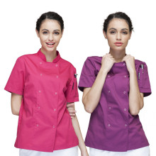 (5 get10%off,10 get apron)4 Color woman female chef jacket short/long sleeve restaurant hotel chef coverall uniform work clothes
