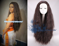 Princess Moana Cosplay Wig Long Big Afro Kinky Curly Wave Black Wigs Moana Waialiki Cosplay Wig