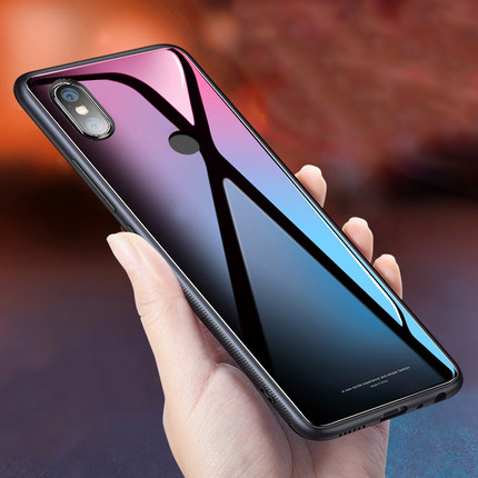 Tempered Glass Phone Case for Xiaomi Mix 2s Case 5.99'' Anti-shock Luxury Cover Case for Xiaomi MIX 2S 2 S Cases Bumper Coque