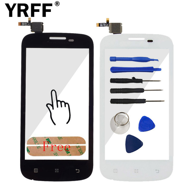 New Touch Panel Sensor Lens Front Glass For Lenovo A760 Touch Screen Digitizer Replacement Parts Repair + Sticker Free Shipping