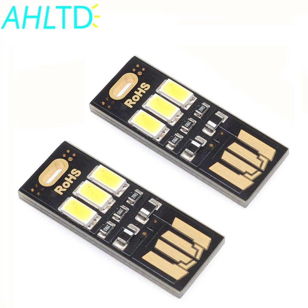 1X 5V One-sided Pocket Card Lamp Bulb Led Keychain Mini LED Energy Saving Warm White car usb led Portable Novelty USB Power