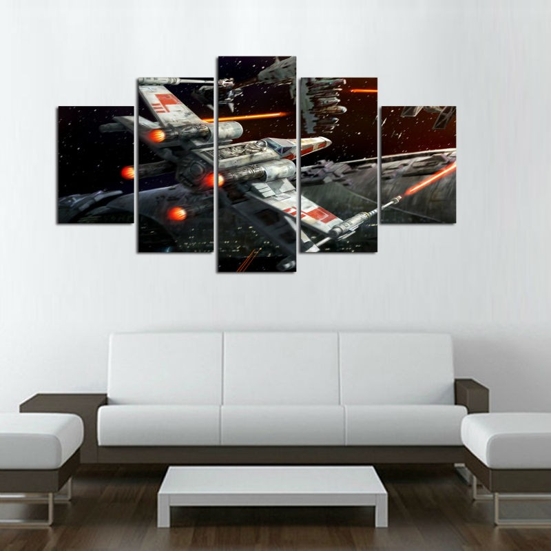5 Pieces Star Wars X Wing Fighter Poster Canvas Painting Wall Art ...