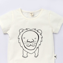 Funny Cartoon T-shirt Kids Casual Cotton Clothes for 2017