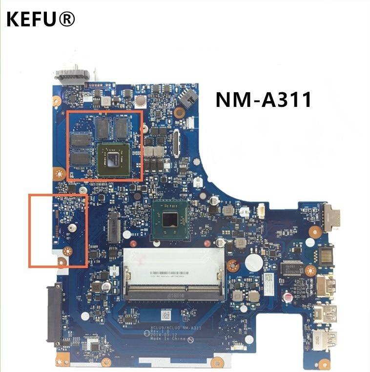 KEFU Original System Board For Lenovo G50 30 Laptop Motherboard ACLU9 ACLU0 NM A311 With Processor