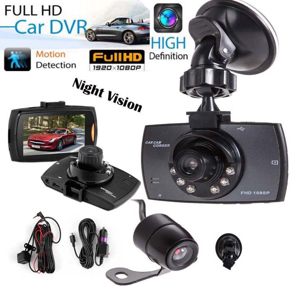 TAIHONGYU 1080P 2.7 HD LCD Dual Lens Car Dash Camera DVR Cam Recorder With IR Night Vision G-Sensor
