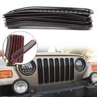Front Grille Cover Insert Mesh Grill For Jeep Wrangler TJ 1997 1998 1999 2000 2001 2002 2003 2004 2005 2006 Accessories