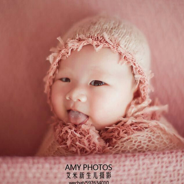 Newborn Mohair Lace Hat With Matching Wrap Set Baby Bonnet Handmade Super  Fluffy Lace Wrap Stretch Newborn Photography Wraps df9c6d3f7eec