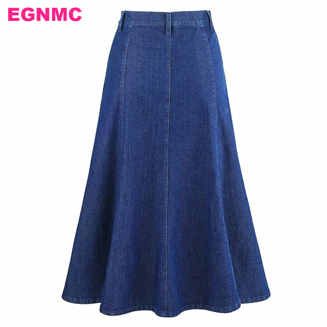 70432afda LIVA GIRL Long Denim Skirt A Line Women Lady Girls Jeans Skirt Autumn  Winter Slim Sexy Skinny Denim Skirts