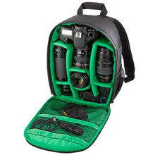 Upgrade Waterproof Digital DSLR Photo Padded Backpack w/ Rain Cover Laptop Multi-functional Camera Soft Bag Video Case
