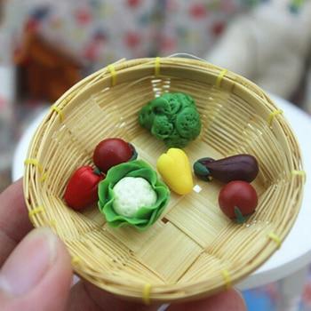 7 unids/set Mini 3-4cm escala casa de muñecas accesorios miniaturas frutas verduras comida muñeca habitación decoración Kits mejor regalo