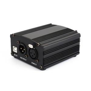 Image 5 - 1 канальный 48В USB Phantom Power 5 футов USB кабель XLR 3Pin кабель для микрофона для любого конденсаторного микрофона