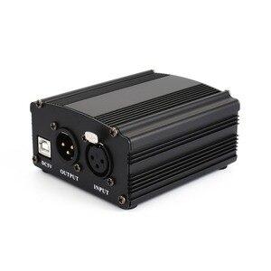 Image 5 - 1 kanallı 48 V USB fantom güç 5 metre USB kablosu XLR 3Pin mikrofon kablosu herhangi bir kondenser mikrofon