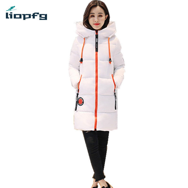 2017 Winter Women Jacket Female Slim Long Parkas 3XL Ladies Hooded Collar Cotton Padded Coat Warm Outerwear 6 Color PQ041