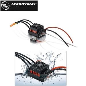Image 2 - 1 adet orijinal Hobbywing QuicRun WP 10BL60 sensörsüz fırçasız hız kontrolörleri 60A ESC 1/10 Rc araba için