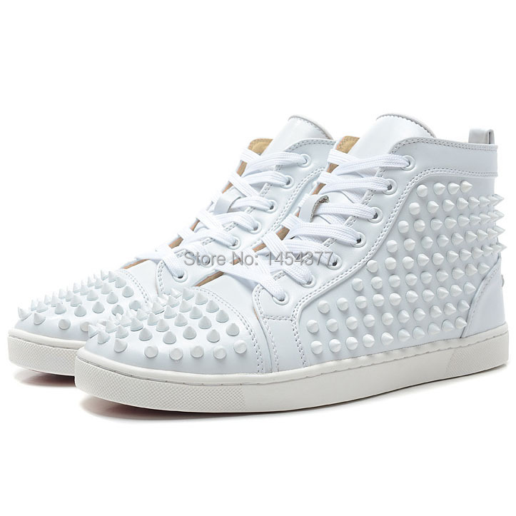 Red Bottom sneakers with spikes for men
