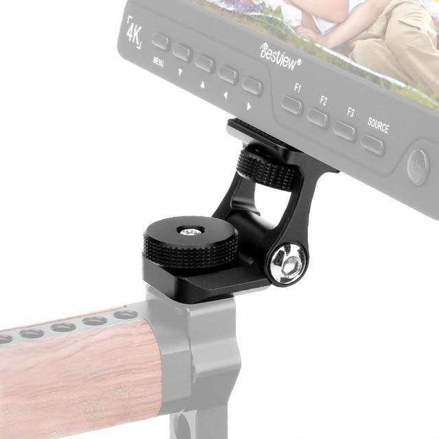 범용 비디오 카메라 모니터 마운트 Feelworld F6S Bestview S7 S5 조절 180 회전 마운트 브라켓 차가운 신발 마운트
