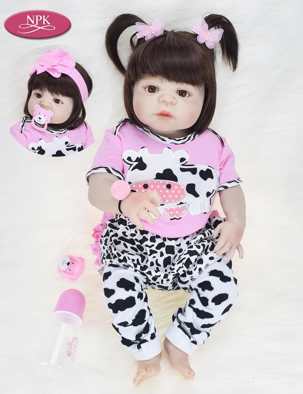 3fe0bc6cd NPK Real 57CM Full Body SIlicone Girl Reborn Babies Doll Bath Toy Lifelike  Newborn Princess Baby
