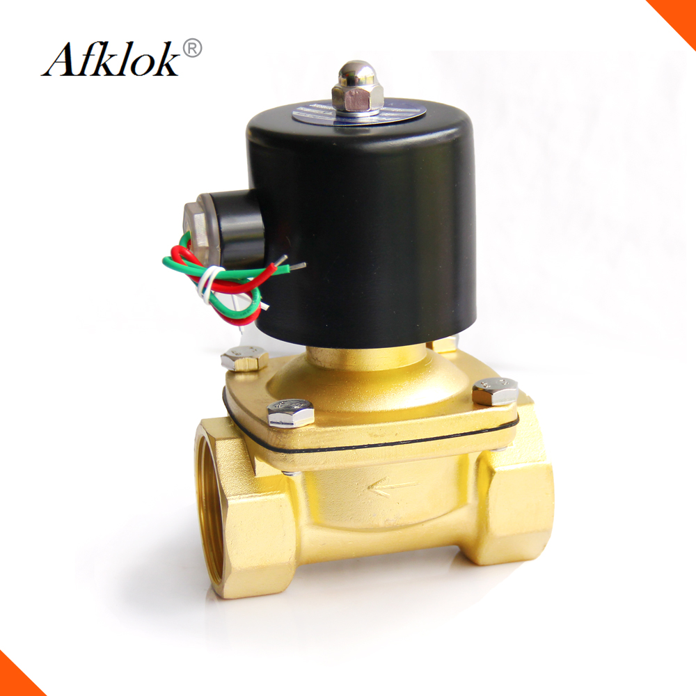 VITON 3//4 in 220V-240V AC Brass Solenoid Valve NPT Gas Water Air Normally Closed