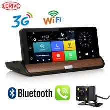 Udricare 7 pulgadas 3G GPS WiFi Android 5.0 GPS Salpicadero Lente Dual Bluetooth de navegación FHD1080P 1 GB RAM Cámara de Visión Trasera DVR